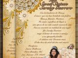 Western Quinceanera Invitations Western Chic Invitations for Sweet16 or Quinceanera On Luulla