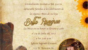 Western Quinceanera Invitations Western Invitations Printable Western theme Invitation