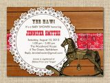 Western theme Baby Shower Invites Western themed Baby Shower Invitation by Fancyshmancynotes