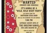 Western theme Party Invitation Template Free Cowboy Invitations Template Best Template Collection