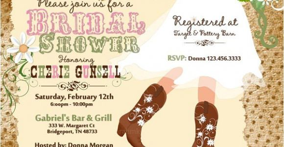 Western themed Bridal Shower Invitations Bridal Shower Invitations Easyday