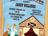 Western themed Bridal Shower Invitations Country Western Bridal Shower Invitations Cute Barn