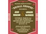 Western themed Bridal Shower Invitations Western Couple S Bridal Shower Invitation