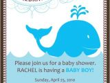 Whale themed Baby Shower Invitations Baby Shower