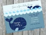 Whale themed Baby Shower Invitations Items Similar to Baby Shower Whale Nautical themed