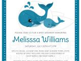 Whale themed Baby Shower Invitations Mommy and Baby Whales Cute Baby Shower Invitation