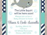 Whale themed Baby Shower Invitations Printable Whale Baby Shower Invitation Navy Blue by