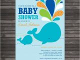 Whale themed Baby Shower Invitations Whale Baby Shower Invitation Printable Boy Baby Shower