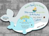 Whale themed Baby Shower Invitations Whale Baby Shower Invitations Nautical Baby Shower Invitations