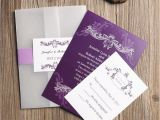 What Paper to Use for Wedding Invitations Affordable Vintage Purple Vellum Paper Pocket Wedding