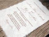 What Paper to Use for Wedding Invitations Mulberry Paper Wedding Invitation Handmade Paper Eco