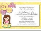 What to Put On A Party Invite Dark Hair Girl Pajama Party Sleepover Invitations Girls