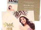 What to Put On Graduation Invitations Favorite Photo Gold Foil Graduation Announcements Pear