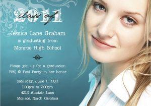 What to Say On Graduation Invitations Bear River Photo Greetings Three New Graduation