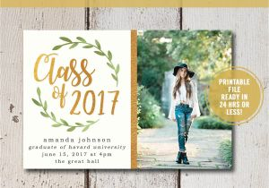 What to Say On Graduation Invitations College Graduation Invitation Printable High School