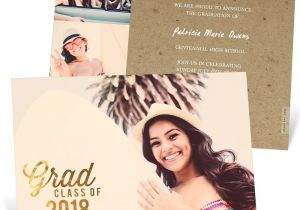 What to Say On Graduation Invitations Favorite Photo Gold Foil Graduation Announcements Pear