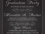 What to Say On Graduation Party Invitation Chalkboard Graduation Party Invitations Graduation
