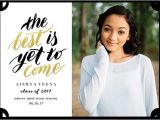 What to Say On High School Graduation Invitations Graduation Announcement Wording Ideas for 2018 Shutterfly