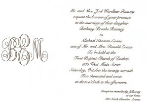What to Write In A Wedding Invitation Simply southern Wedding