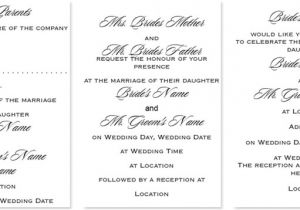 What to Write In A Wedding Invitation Wedding Invitation Wording What to Write Templates