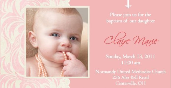 What to Write On A Baptism Invitation Baptism Invitations for Girl Blank Christening