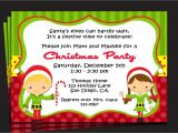 What to Write On A Christmas Party Invitation Christmas Party Invitation Printable or Printed with Free