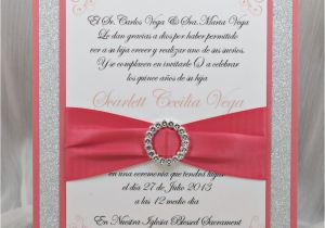 What to Write On Quinceanera Invitations Coral Peach Quinceanera Sweet Sixteen Invitation by