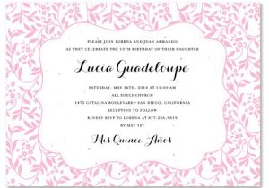 What to Write On Quinceanera Invitations Garden Quinceanera Invitations On Seeded Paper Cheery