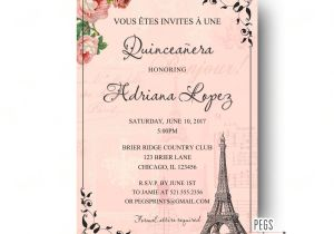 What to Write On Quinceanera Invitations Paris Quinceanera Invitation Quinceanera Invitation