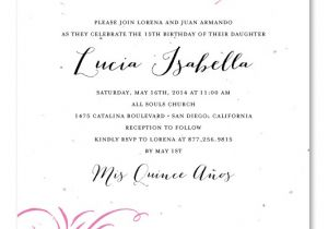 What to Write On Quinceanera Invitations Quinceanera Invitation Wording Quinceanera Invitation