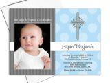 Where Can I Buy Baptism Invitations Baby Boy Christening Invite