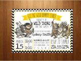 Where the Wild Things are Birthday Invitation Template where the Wild Things are Baby Shower Invitations where