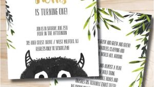 Where the Wild Things are Birthday Invitation Template where the Wild Things are Birthday Invitation Let the Wild