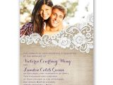 Where to Buy Wedding Invitations In Store Burlap and Lace Frame Invitation with Free Response