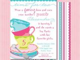 Whimsical Tea Party Invitations Tea Party Whimsical Birthday Invitation Pink and
