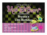 Whimsical Tea Party Invitations Whimsical Mad Tea Party Birthday Party Invitation Zazzle