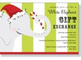 White Elephant Christmas Party Invitations Templates Christmas Invitations White Elephant and Invitation