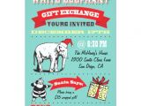 White Elephant Christmas Party Invitations Templates Retro White Elephant Christmas Party Invitations