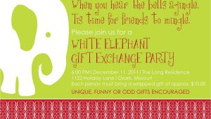White Elephant Christmas Party Invitations Templates White Elephant Christmas Party Invitations