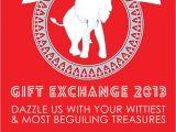 White Elephant Christmas Party Invitations Templates White Elephant Gift Exchange Free Printable Invitation