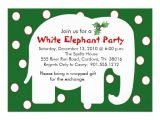 White Elephant Christmas Party Invitations Templates White Elephant Holiday Party Invitations