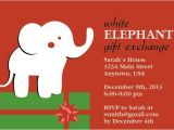 White Elephant Gift Exchange Party Invitations Items Similar to White Elephant Gift Exchange Christmas