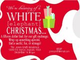 White Elephant Gift Exchange Party Invitations Party Invitations White Elephant at Minted Com