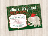 White Elephant Gift Exchange Party Invitations White Elephant Gift Exchange Invitation Pure Design Graphics