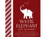 White Elephant Gift Exchange Party Invitations White Elephant Gift Exchange Party Invitation Zazzle