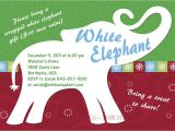 White Elephant Gift Exchange Party Invitations White Elephant Party Invitation Customizable Printable 4×6 or