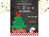 White Elephant Gift Exchange Party Invitations White Elephant Party Invitation Gift Exchange Party