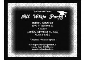 White Party theme Invitations All White attire theme Party Invitation From Zazzlecom