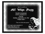 White Party theme Invitations All White attire theme Party Invitation Zazzle