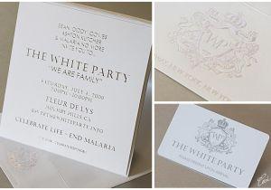 White Party theme Invitations Birthday Invites 10 Design White Party Invitations Card